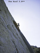 Rock Climbing Photo: Lothar does The Roof 5.8**