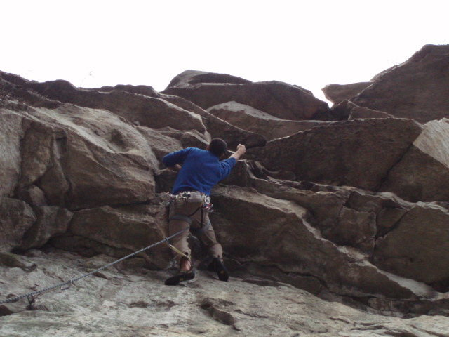 Rock Climbing Photo: 1st hang