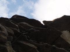 Rock Climbing Photo: getting to 2nd hang