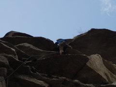 Rock Climbing Photo: into the notch