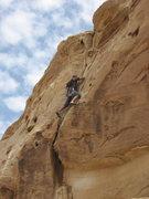 Rock Climbing Photo: Jim near the top.