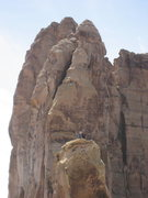 Rock Climbing Photo: Jim & Gene on top. Weasel in the background. Live ...