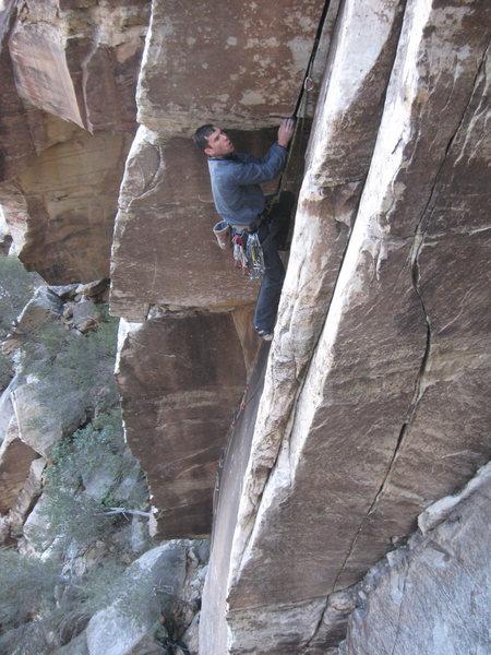Rock Climbing Photo: darren climbing straight shot (11d).  photo by kra...