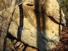 Rock Climbing Photo: just right of tree