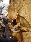 Rock Climbing Photo: one crux move