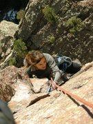 Rock Climbing Photo: Brooke after 3rd pitch traverse.