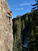 Rock Climbing Photo: Snowy and icy down by the river but warm and dry u...