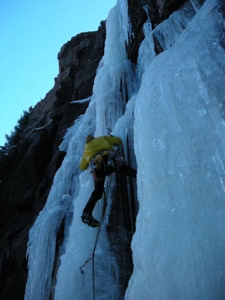 Rock Climbing Photo: Clay Meier firing off the start.