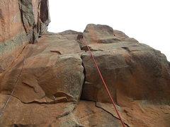 Rock Climbing Photo: Secret stash. 5.11b fingers crack. Yes this is Car...