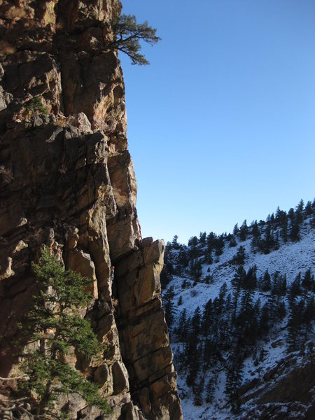 Rock Climbing Photo: Second Pitch of Breezy 5.5 - Eldorado Canyon