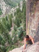 Rock Climbing Photo: Washington Irving 5.6 - Eldorado Canyon