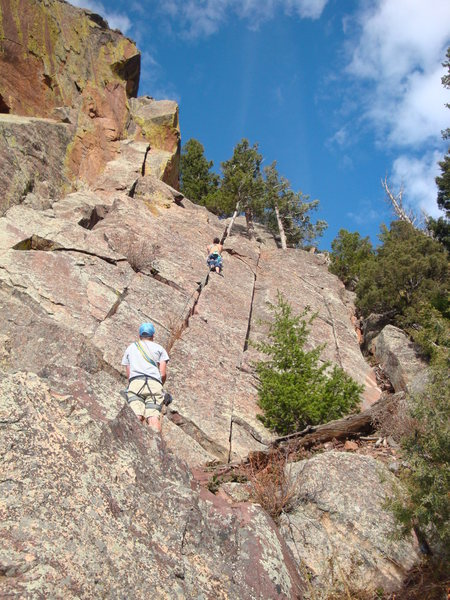 Unknown Crack ? - Fin One, Cad. Crag - Eldorado Canyon