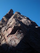 Rock Climbing Photo: The Flakes 5.8 - Eldorado Canyon