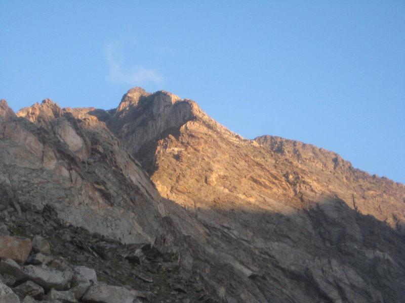 Blitzen Ridge on the approach