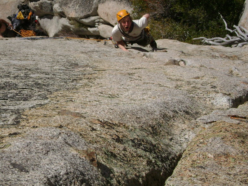 Rock Climbing Photo: Gawking at the features on the Books classy 5.8.