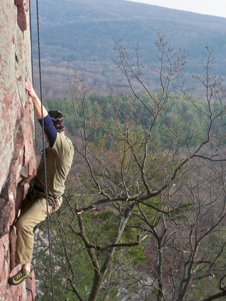 Rock Climbing Photo: Chad on Berkeley.  Mild November Day.  The Rock wa...