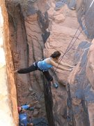 Rock Climbing Photo: Compromising first moves at the start of Sea of Tr...