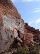 """Rock Climbing Photo: Lower tier of The Hamlet, climber moving up """"..."""