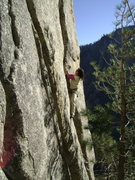 Rock Climbing Photo: Leah cruising on Quoia the Destroya.