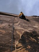Rock Climbing Photo: Send up the lightest, strongest climber on the fir...