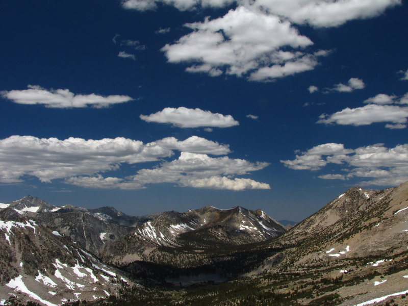 Rock Climbing Photo: View west from Kearsarge Pass, Eastern Sierras