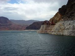 Rock Climbing Photo: Draught.  Lake Mead, 2004.  Probably worse now.  H...