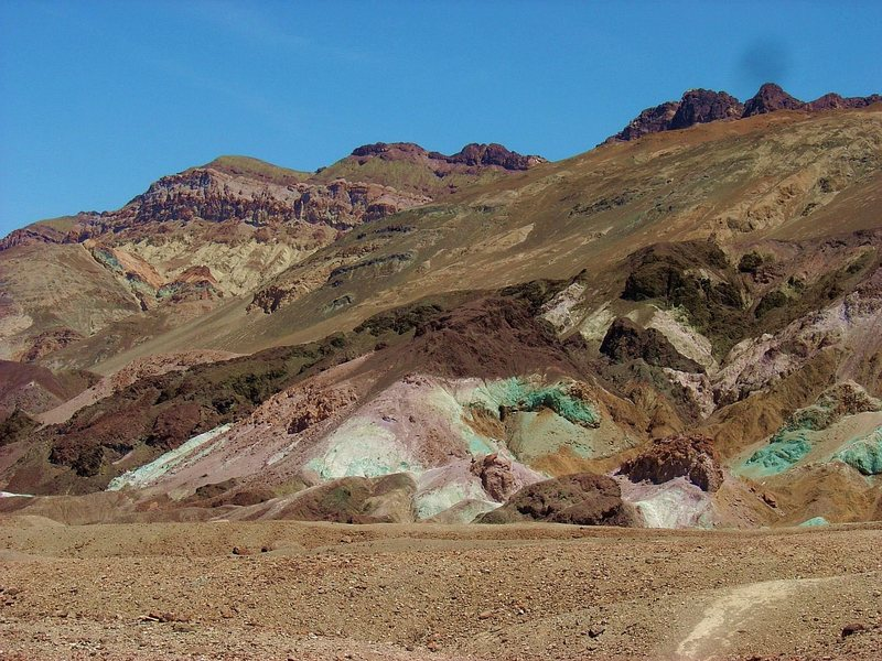 """The """"Artist's Palette"""" formation, Death Valley NP."""