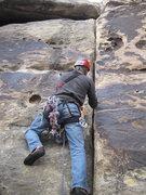 Rock Climbing Photo: Zane starting up Tonto with an inordinate amount o...