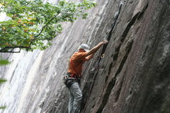 Rock Climbing Photo: trusting the trad gear at Cedar