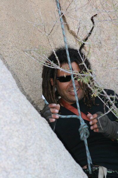 Rock Climbing Photo: Rasta Raj having tree problems. Some times Dreds a...