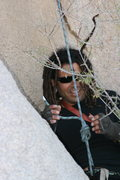 Rock Climbing Photo: Rasta Raj having tree problems. Some times Dreds a...