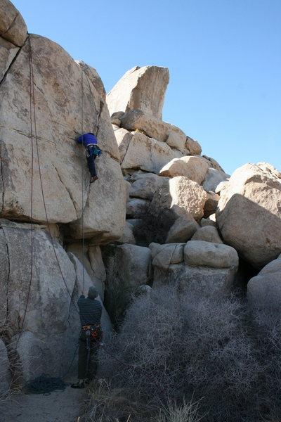 Al on a fun and wild climb.
