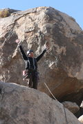 Rock Climbing Photo: Always excited to finish a tough climb.