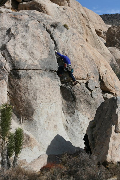 Rock Climbing Photo: Al on another crack we found at the base of Headst...