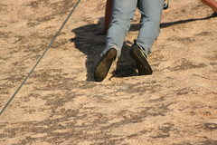 Rock Climbing Photo: Friction climbing no handholds and footing like th...