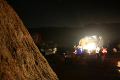 Rock Climbing Photo: Night time around camp.