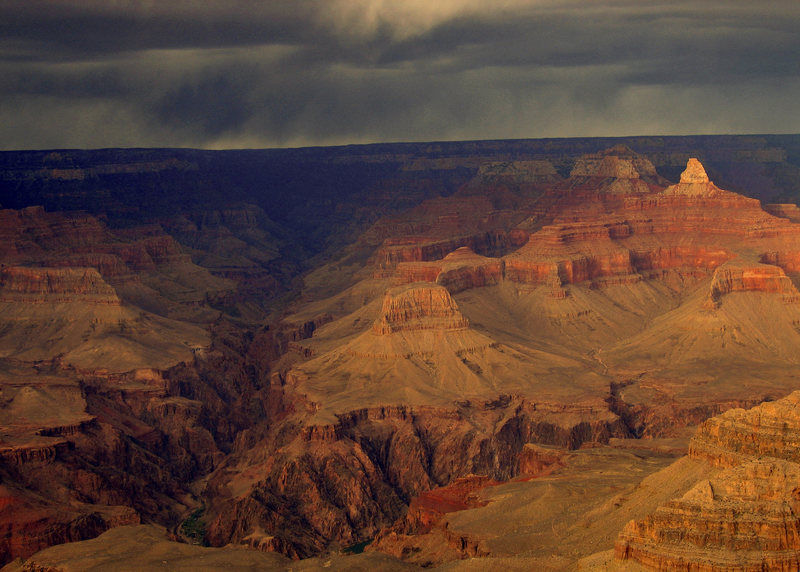 Rock Climbing Photo: Zoroaster Temple from the South Rim during a clear...