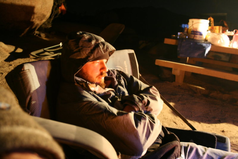Night time around camp. Nathan.