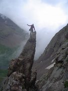 Rock Climbing Photo: Fun scrambling can be had right on the approach tr...
