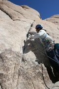 Rock Climbing Photo: Al starting up Leaping Leaner. He's headed for the...