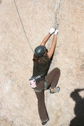 Rock Climbing Photo: Agina on Leaping Leaner.