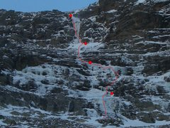 Rock Climbing Photo: As of 11/21 - thin ice in places, but rock gear pr...