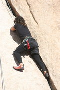 Rock Climbing Photo: Roger on Leaping Leaner.