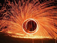 Rock Climbing Photo: wire wool spinning