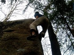 Rock Climbing Photo: Send of Smuggling Plums, hard to get a good shot o...