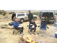 Rock Climbing Photo: The Devastating Team, L to R..Gene Vallee,Jim Shim...