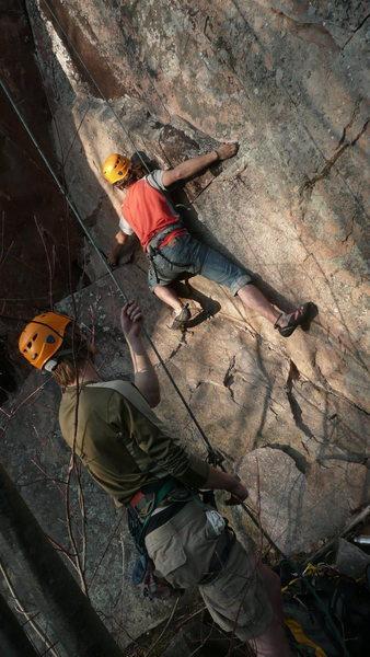 Rock Climbing Photo: starting the climb