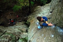 Rock Climbing Photo: Near the top of 27 Years of Climbing (5.8)