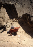 Rock Climbing Photo: PG setting the summit speed record (1hr 50m)...fre...