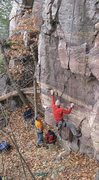 Rock Climbing Photo: Mike Sohasky on the initial hand traverse